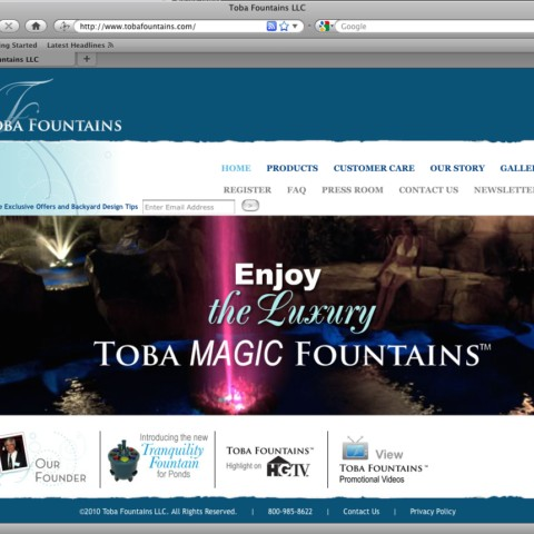 Toba Fountains Website