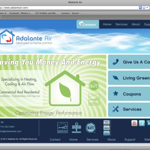 Adalante Air Website
