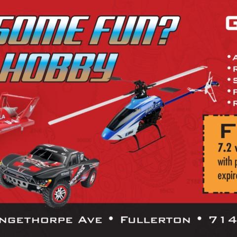 Hobby Store Advertisement
